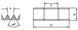 "Cossinete Tarraxa Manual 107/8C BSW 1/2"" Sem Peeling OSG"
