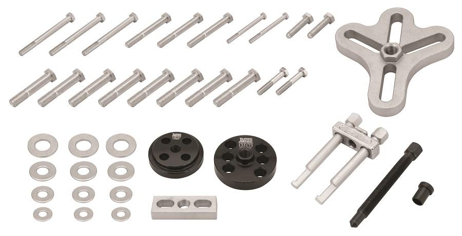 Conjunto de ferramentas para extração de volantes de direção de automóveis e utilitários Raven.