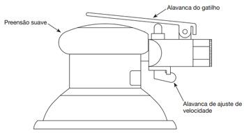 "Lixadeira Orbital Pneumática 6"" Cl156770 Campbell"