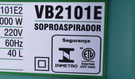 Soprador E Aspirador De Folhas 2000W Vb2101e1 Tekna - 127V