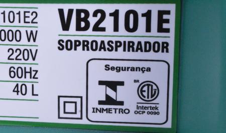 Soprador e aspirador de folhas 2000W Vb2101e2 Tekna