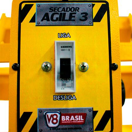 Painel De Secagem Rápida 3000W 3Lamp Agile 3 V8Brasil - 220V