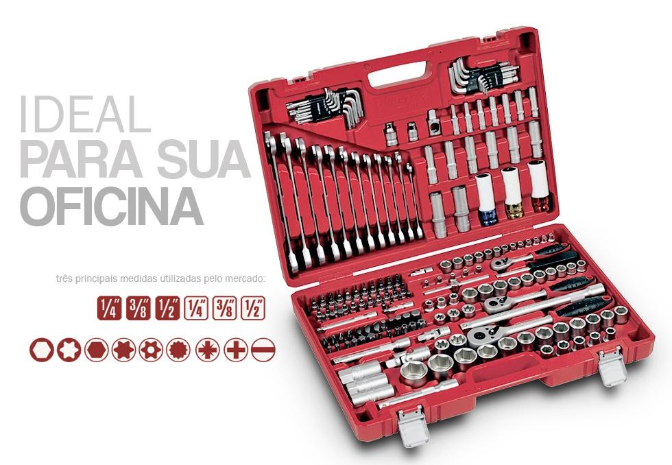 Kit Ferramentas Oficina Master 5000R Robust - 178 Peças