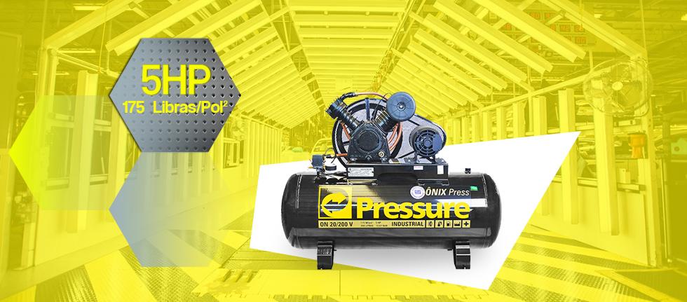 Compressor de Ar 200 Litros 20 Pés Pressure Ônix 20/200 V - 220/380V Trifásico