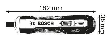 Parafusadeira Bosch Go Reta a Bateria 3,6 V 1,5 Ah Bivolt