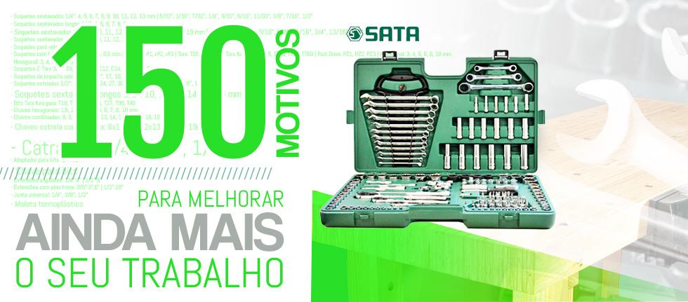 Kit de Ferramentas Manuais Profissional 150 Peças ST09510SJ Sata