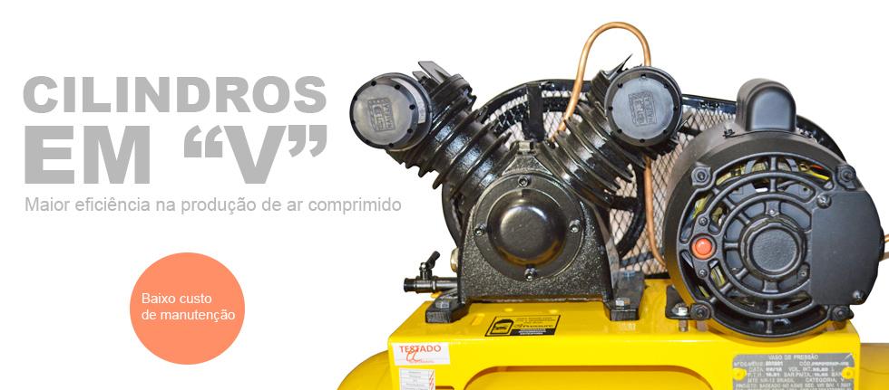 Compressor De Ar 100 Litros 10 Pés Pressure SE10/100V - 110/220 Volts