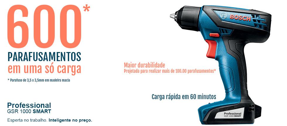 Furadeira e Parafusadeira a Bateria Bosch 12V GSR1000 Smart Bivolt
