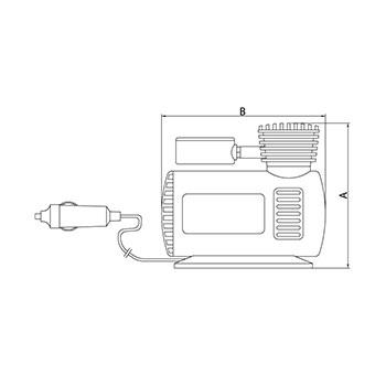 Compressor de Ar Portátil P/ Carros 50W 42330001 Tramontina