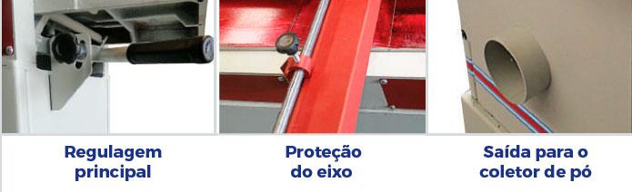 Desempenadeira Com 3 Facas DE.1400/3 Maksiwa – 127/220V