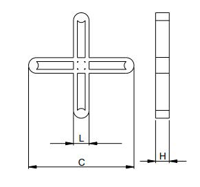 Espaçador de Junta de Piso 27 mm 100 Peças Cinza Cortag