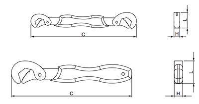 Chave Auto Ajustável Cortag 2 Peças Abertura de 8 a 32mm