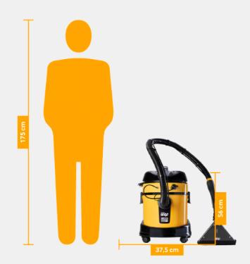 Lavadora Extratora Home Cleaner 1600W Wap – 127V Monofásico