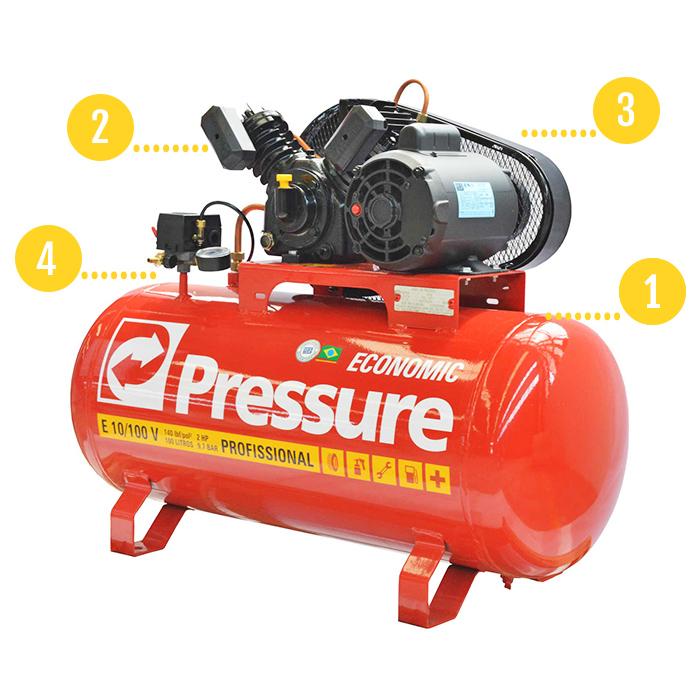 Compressor 100 litros Pressure Economic