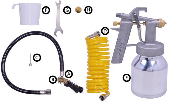 Compressor de ar 40psi + kit de acessórios Cd12151 Tekna