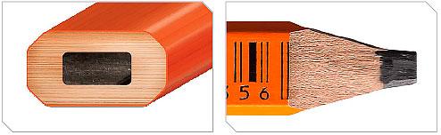 Jogo com 3 Lápis e Estilete Para Carpinteiro LC004BE Lufkin